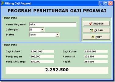 Program Perhitungan Gaji Delphi Bringinfo